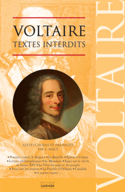 Voltaire - Textes interdits - 9782351840665 - Éditions rue des écoles - couverture