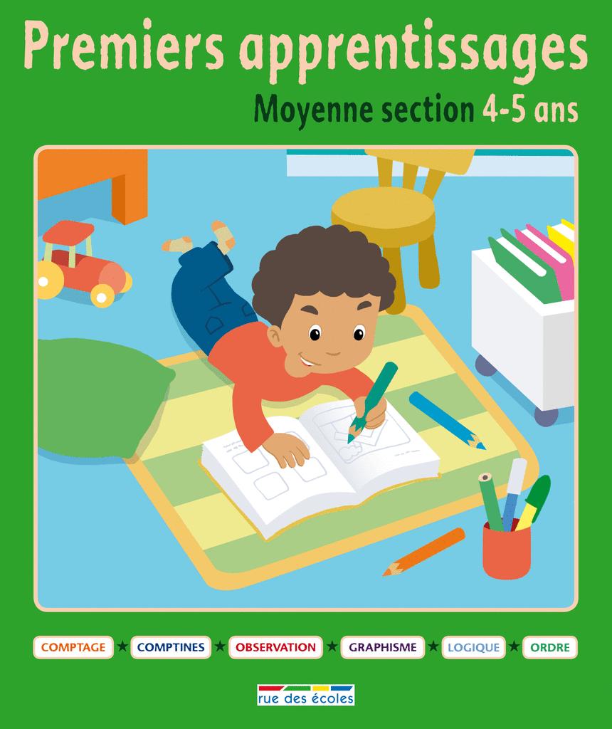 Premiers apprentissages - Moyenne section 4-5 ans - 9782820800800 - rue des écoles - couverture