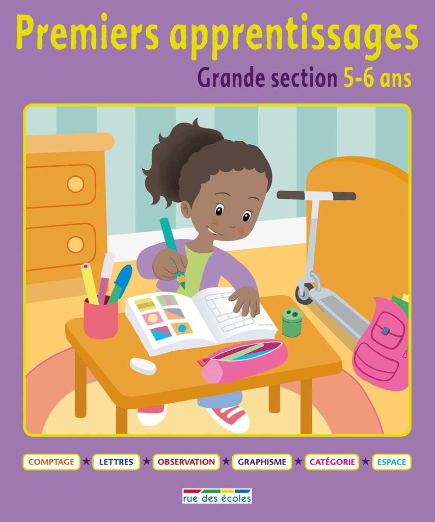 Premiers apprentissages - Grande section 5-6 ans - 9782820800817 - rue des écoles - couverture