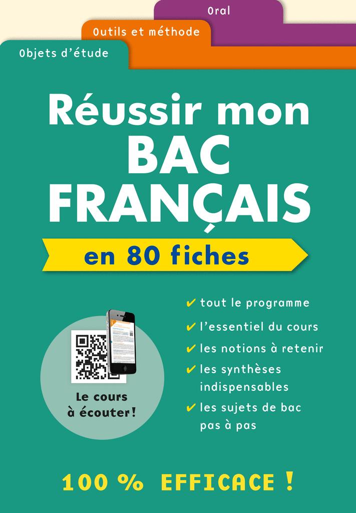 Boîte à fiches Réussir mon Bac Français - 9782820804235 - rue des écoles - couverture