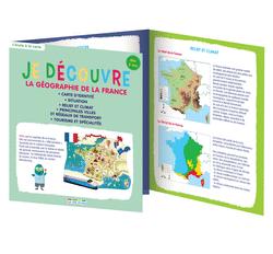 Je découvre la géographie de la France, dès 6 ans - 9782820804556 - rue des écoles - couverture