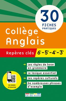 Repères clés : Collège, Anglais - 9782820804822 - Éditions rue des écoles - couverture