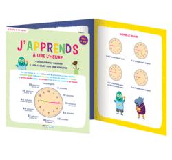 J'apprends à lire l'heure, dès 6 ans - 9782820805027 - Éditions rue des écoles - couverture