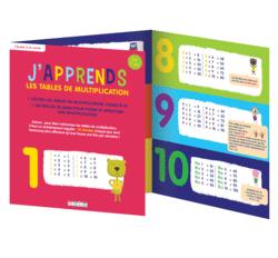 J'apprends les tables de multiplication, dès 7 ans - 9782820805041 - rue des écoles - couverture
