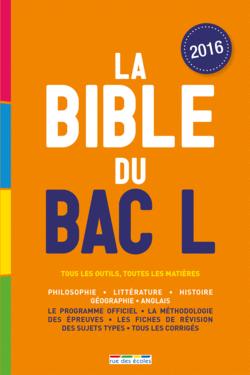 La Bible du bac L - 9782820805188 - rue des écoles - couverture