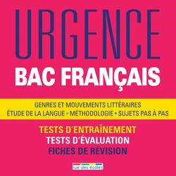 Urgence Bac Français, édition 2016 - 9782820805317 - rue des écoles - couverture