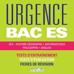 Urgence Bac ES, édition 2016 - 9782820805324 - rue des écoles - couverture