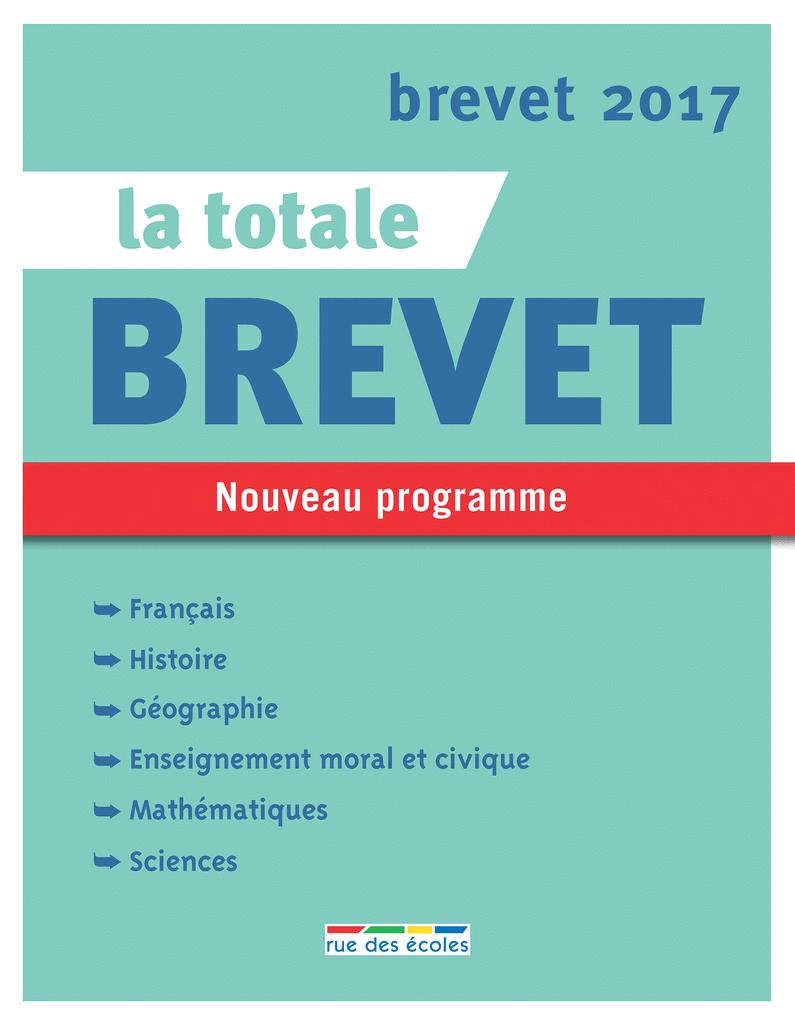 La Totale - Brevet 2017 - 9782820805485 - rue des écoles - couverture