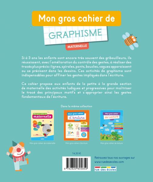 Bien-aimé Mon gros cahier de graphisme, maternelle - Maternelle - Catalogue  SD63