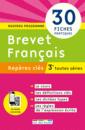 Repères clés : Brevet Français - 3e - 9782820805898 - rue des écoles - couverture