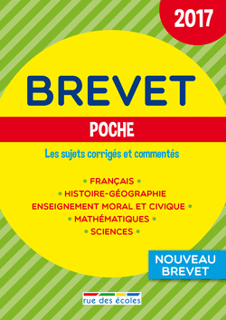 Brevet Poche - 2017 - 9782820806093 - Éditions rue des écoles - couverture