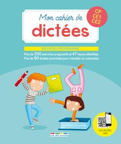 Mon cahier de dictées CP, CE1, CE2 - 9782820806253 - Éditions rue des écoles - couverture