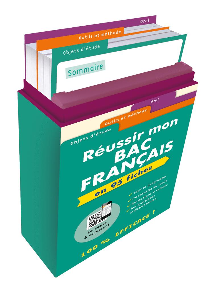 Boîte à fiches : Réussir mon Bac Français - 9782820806505 - Éditions rue des écoles - couverture
