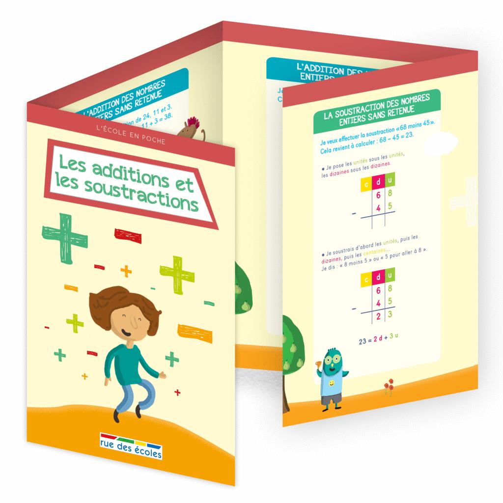 L'école en poche - Les additions et les soustractions - 9782820806512 - Éditions rue des écoles - couverture