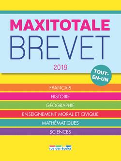 MaxiTotale 2018 - Brevet - 9782820806925 - Éditions rue des écoles - couverture