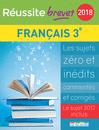 Réussite brevet 2018 - Français - 9782820806963 - Éditions rue des écoles - couverture