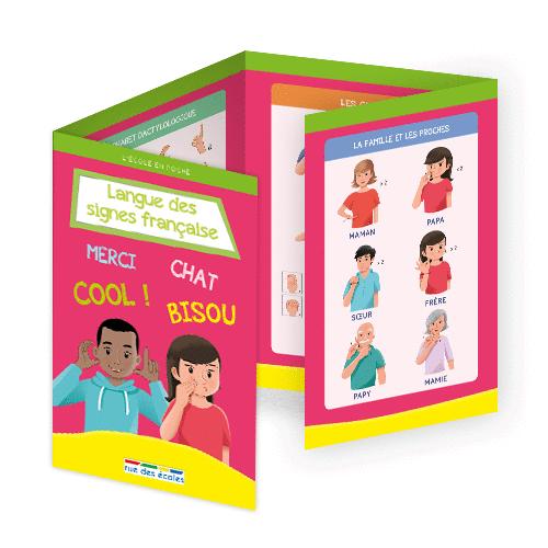 L'école en poche - Langue des signes française - 9782820807410 - Éditions rue des écoles - couverture