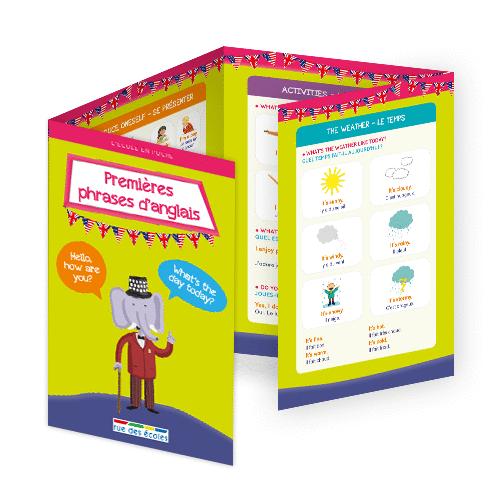 L'école en poche - Premières phrases d'anglais - 9782820807427 - Éditions rue des écoles - couverture