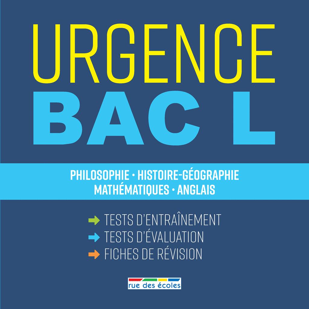 Urgence Bac L, édition 2018 - 9782820807571 - Éditions rue des écoles - couverture