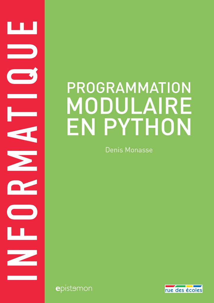 Informatique - Programmation modulaire en Python - 9782820807663 - Éditions rue des écoles - couverture