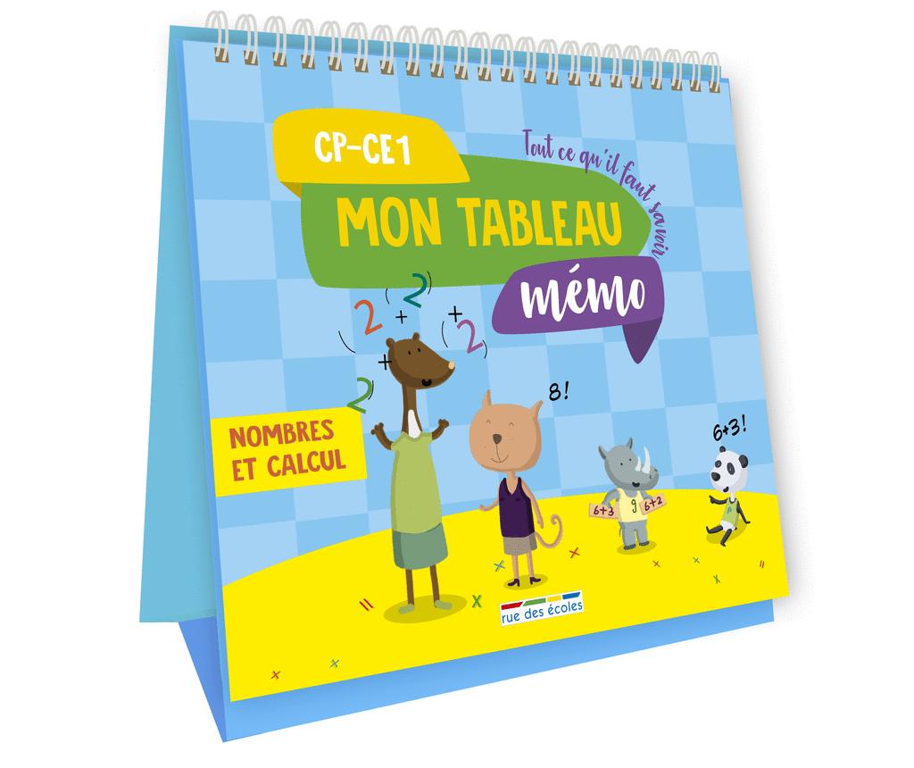 Mon tableau mémo - Nombres et Calcul, CP-CE1 - 9782820808233 - Éditions rue des écoles - couverture