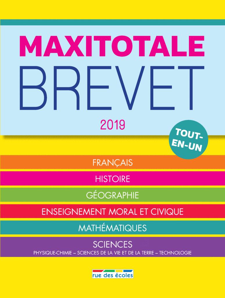 MaxiTotale 2019 - Brevet - 9782820808356 - Éditions rue des écoles - couverture