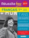 Réussite bac 2019 - Français, Premières toutes séries - 9782820808363 - Éditions rue des écoles - couverture