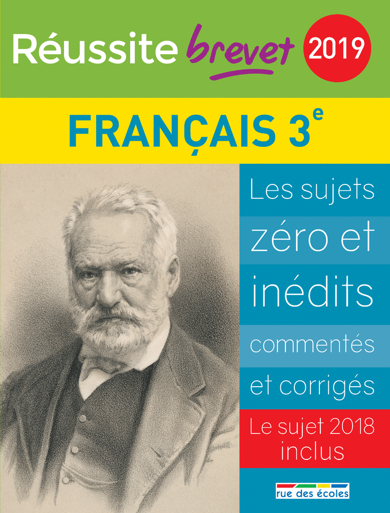 Réussite brevet 2019 - Français - 9782820808394 - Éditions rue des écoles - couverture