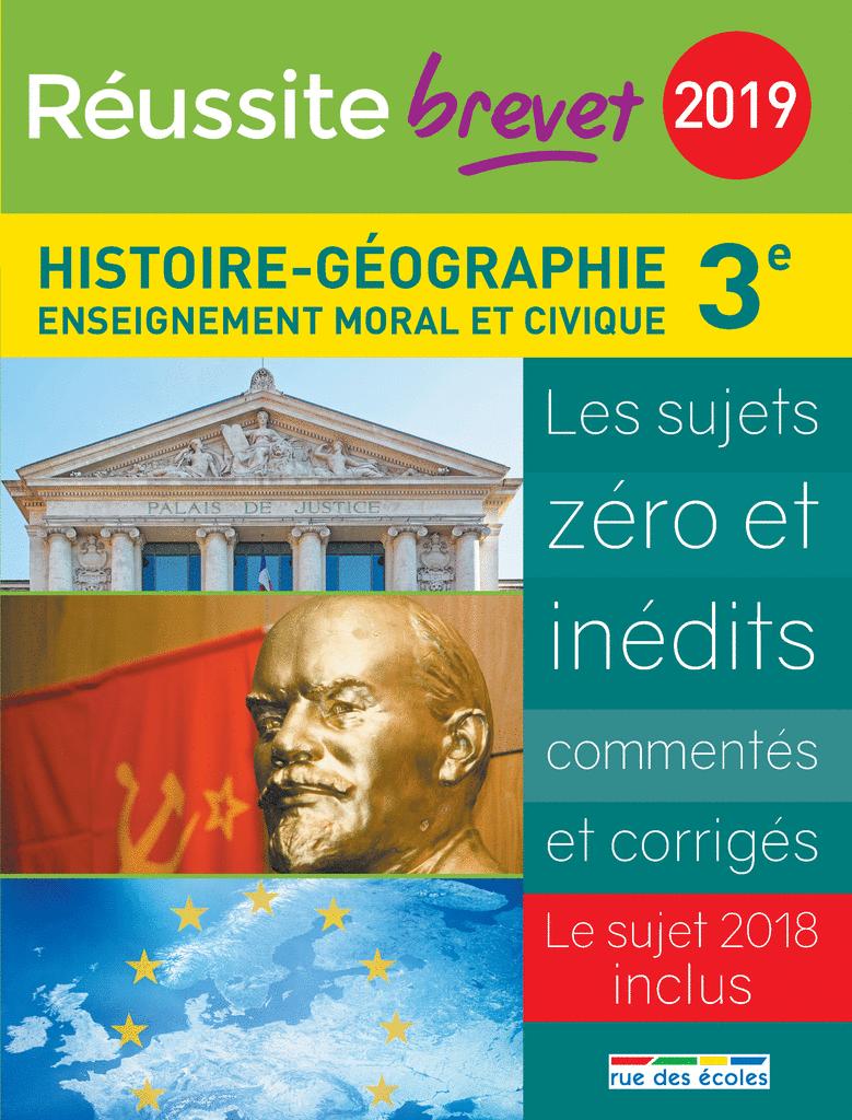 Réussite brevet 2019 - Histoire-Géographie - 9782820808400 - Éditions rue des écoles - couverture