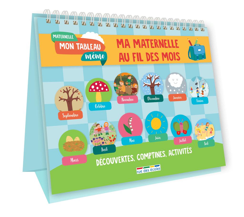Mon tableau mémo - Ma maternelle au fil des mois - 9782820808714 - Éditions rue des écoles - couverture