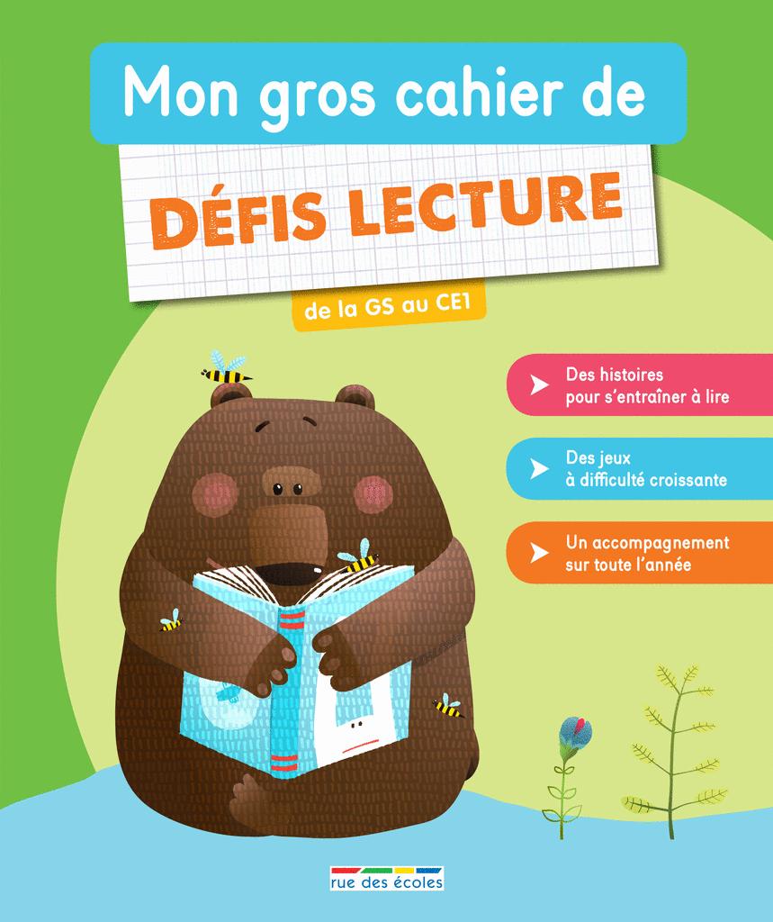 Mon gros cahier de défis lecture - 9782820808738 - Éditions rue des écoles - couverture
