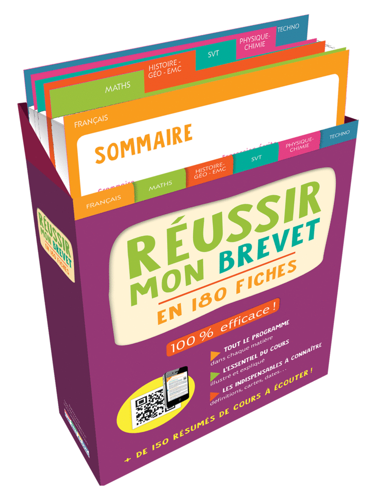 Boîte à fiches : Réussir mon Brevet - 9782820808820 - Éditions rue des écoles - couverture