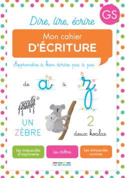 Mon cahier d'écriture Grande Section - 9782820808844 - Éditions rue des écoles - couverture