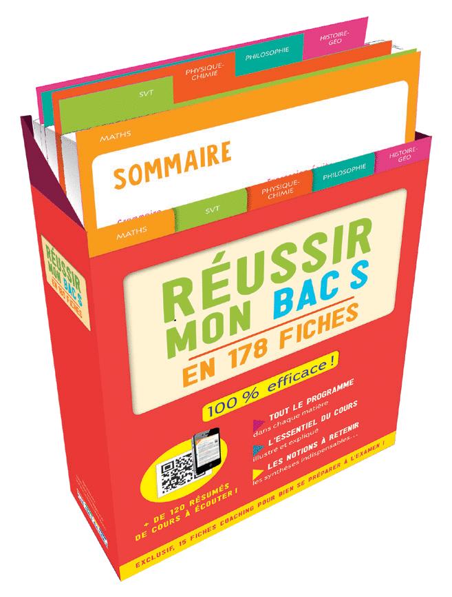 Boîte à fiches : Réussir mon Bac S - 9782820808875 - Éditions rue des écoles - couverture