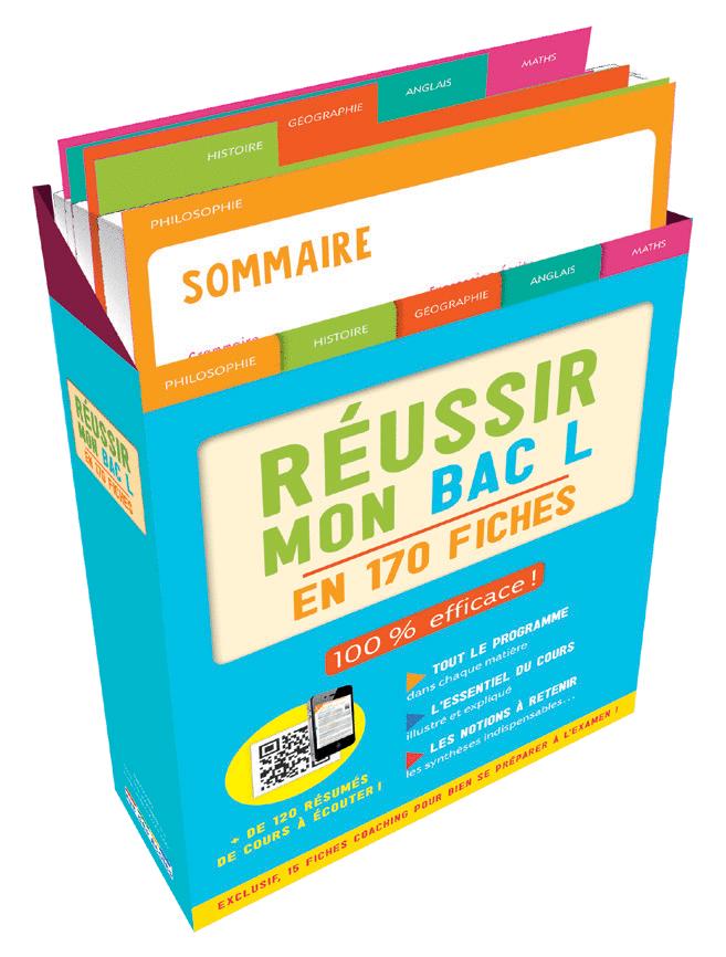 Boîte à fiches : Réussir mon Bac L - 9782820808899 - Éditions rue des écoles - couverture