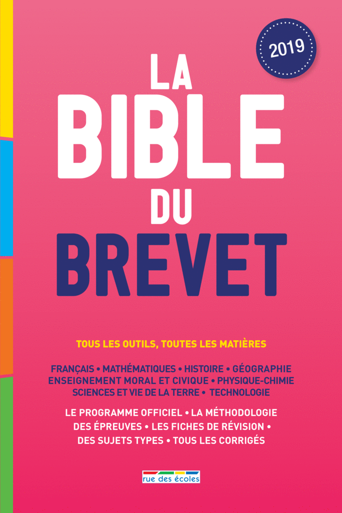 La Bible du brevet - 9782820809070 - Éditions rue des écoles - couverture