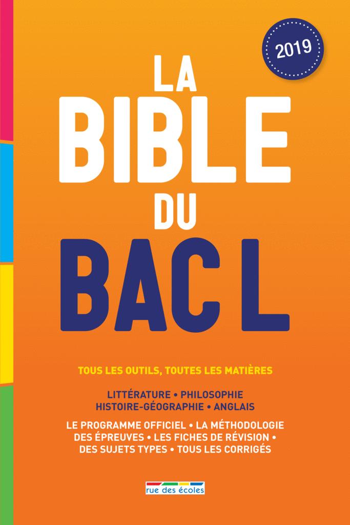 La Bible du bac L - 9782820809100 - Éditions rue des écoles - couverture