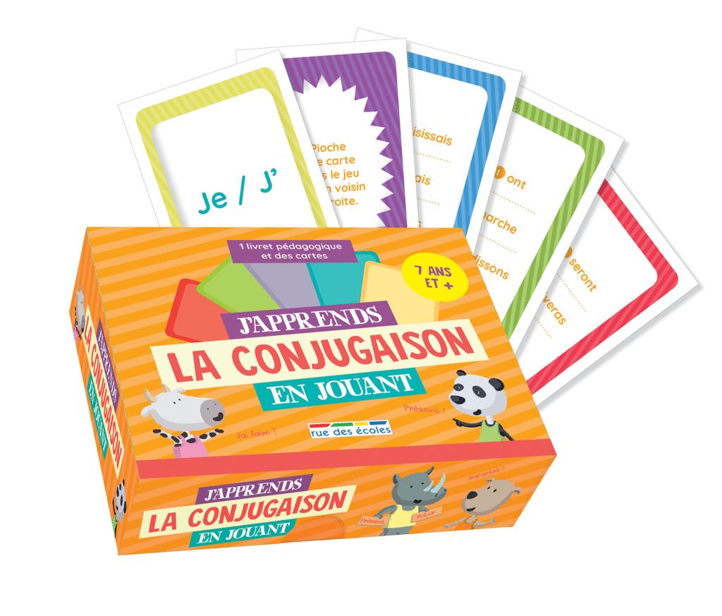 J'apprends la conjugaison en jouant - 7 ans et plus - 9782820809742 - Éditions rue des écoles - couverture