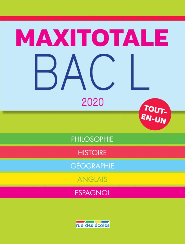 MaxiTotale 2020 - Bac L - 9782820810014 - Éditions rue des écoles - couverture