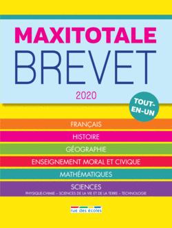 MaxiTotale 2020 - Brevet - 9782820810038 - Éditions rue des écoles - couverture