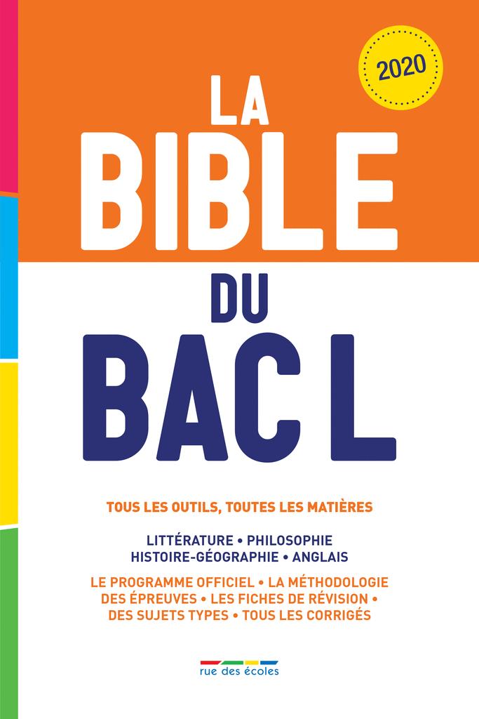 La Bible du Bac L - Édition 2020 - 9782820810403 - Éditions rue des écoles - couverture