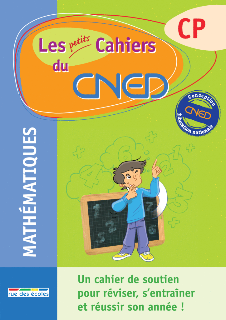 Les petits Cahiers du CNED CP Maths - 9782844317025 - rue des écoles - couverture