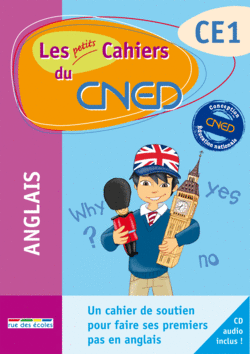 Les petits Cahiers du CNED Anglais CE1 - 9782844319050 - rue des écoles - couverture