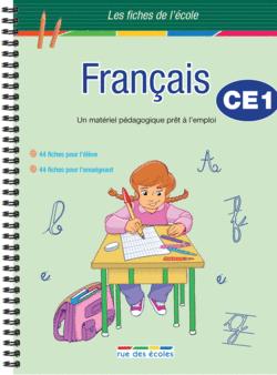 Les Fiches de l'école - Français CE1 - 9782844319470 - Éditions rue des écoles - couverture
