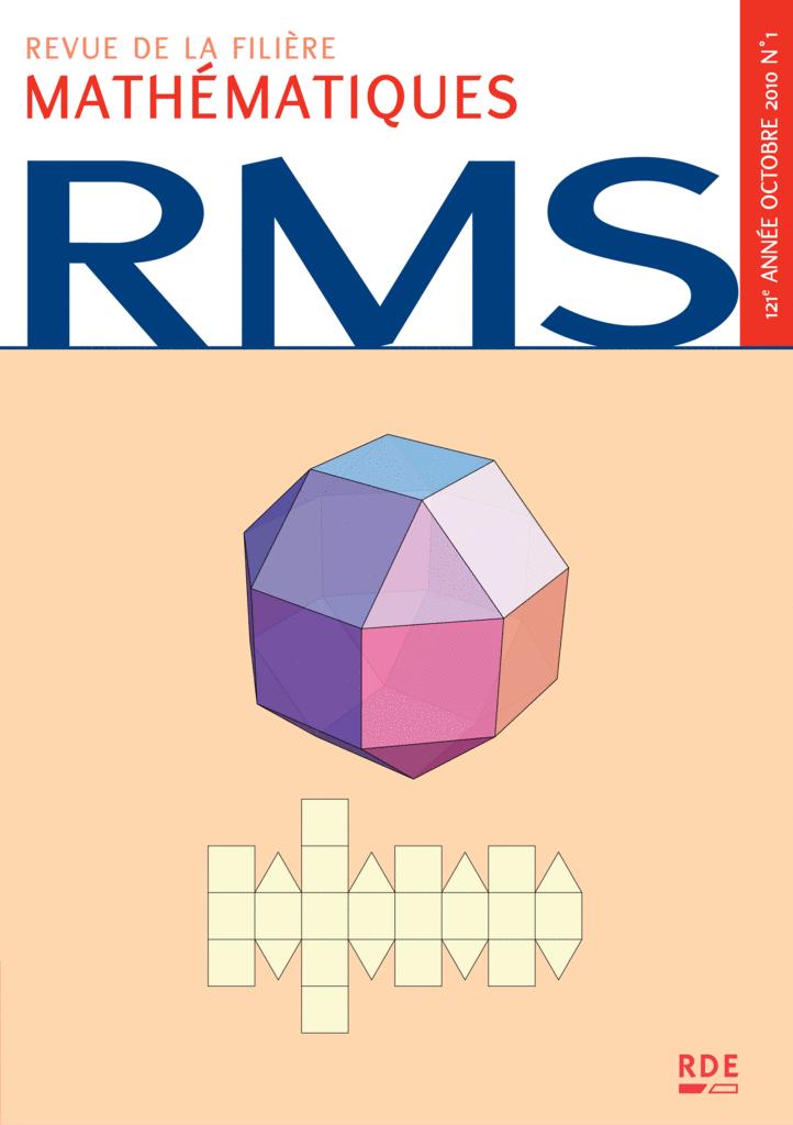 RMS - 121e année - numéro 1, octobre 2010 - 9782916609171 - rue des écoles - couverture