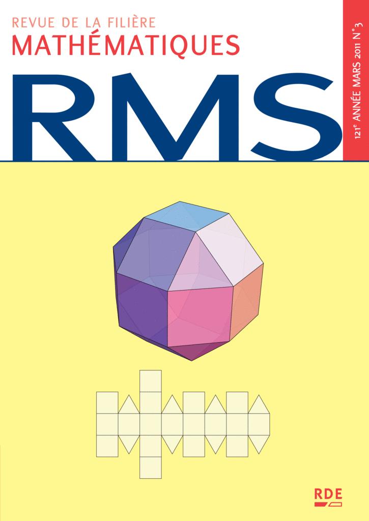 RMS - 121e année - numéro 3, mars 2011 - 9782916609195 - rue des écoles - couverture