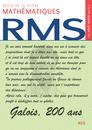 RMS - 122e année - numéro 2, janvier 2012 - 9782916609225 - rue des écoles - couverture