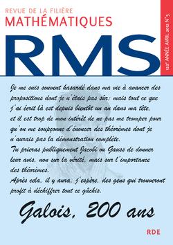 RMS - 122e année - numéro 3, avril 2012 - 9782916609232 - rue des écoles - couverture
